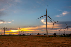 Huay Bong Wind Farm Thailand Royalty Free Stock Images