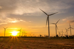 Huay Bong Wind Farm Thailand Stock Images
