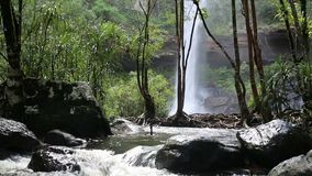 Huay Luang Waterfall stock video