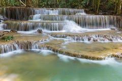 Huay Mae Ka Min waterfall in national park Royalty Free Stock Images