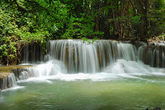 Huay mae Ka Min waterfall Royalty Free Stock Photo
