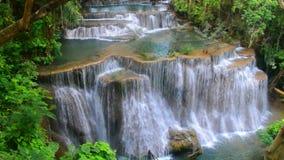 Huay Mae Kamin瀑布国家公园,北碧 股票录像