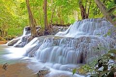 Huay mae kamin瀑布在泰国 库存照片