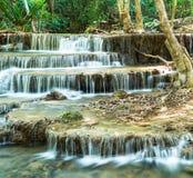 Huay Mae Kamin siklawa w Sirnakarin parku narodowym, Kanchanabu Fotografia Royalty Free