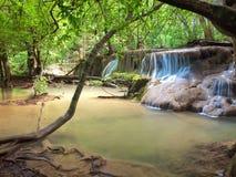 Huay Mae Kamin Wasserfall Stockfotos