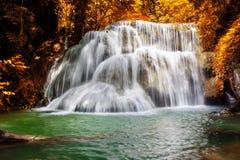 Huay Mae Kamin Waterfal Stock Image