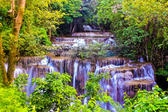 Huay Mae Kamin Waterfal. L is one of the most beautiful waterfalls in Khaoen Sri Nakarin National Park, Kanjanaburi, Thailand Stock Photography