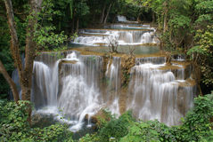 Huay Mae Kamin waterfall Stock Image