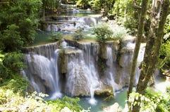 Huay Mae Kamin Waterfall. In Kanchanaburi, Thailand Royalty Free Stock Images