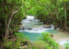 Huay Mae Kamin Waterfall Stock Photo