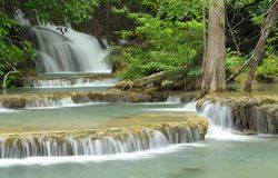 Huay Mae Kamin Waterfall. Royalty Free Stock Images