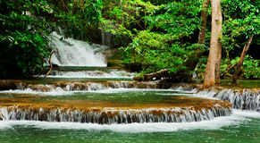 Huay Mae Kamin waterfall Royalty Free Stock Image