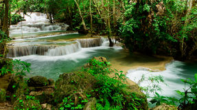 Huay Mae Kamin waterfall Royalty Free Stock Photos