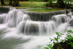 Huay Mae Kamin Waterfall Imagem de Stock