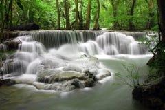 Huay Mae Kamin Waterfall Arkivfoto