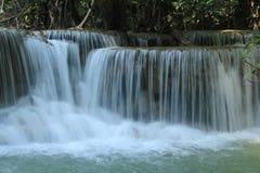 Huay Mae Kamin Waterfall. Huai Mae Khamin Waterfall Beautiful, moist, a favorite of everyone, in Kanchanaburi, Thailand Stock Photo