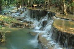Huay Mae Kamin Waterfall. Huai Mae Khamin Waterfall Beautiful, moist, a favorite of everyone, in Kanchanaburi, Thailand stock image