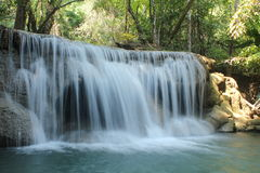 Huay Mae Kamin Waterfall. Huai Mae Khamin Waterfall Beautiful, moist, a favorite of everyone, in Kanchanaburi, Thailand stock photography