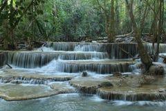 Huay Mae Kamin Waterfall. Huai Mae Khamin Waterfall Beautiful, moist, a favorite of everyone, in Kanchanaburi, Thailand Royalty Free Stock Image