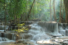 Huay Mae Kamin Waterfall. Huai Mae Khamin Waterfall Beautiful, moist, a favorite of everyone, in Kanchanaburi, Thailand royalty free stock photos