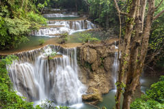 Huay Mae Kamin Waterfall Royalty Free Stock Photos