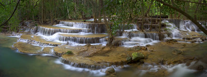 Huay Mae Kamin Waterfall Royalty Free Stock Photography