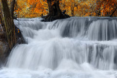 Huay Mae Kamin Waterfall in Kanchanaburi Province Thailand Royalty Free Stock Photos