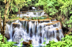 Huay Mae Kamin Waterfall in Kanchanaburi, Thailand Stock Photos