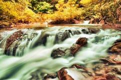 Huay Mae Kamin Waterfall in Kanchanaburi, Thailand Stock Photos