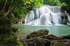 Huay mae kamin waterfall, Kanchanaburi Thailand Royalty Free Stock Photos
