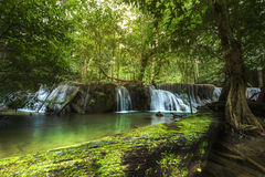 Huay Mae Kamin Waterfall, Kanchanaburi, Thailand Royalty Free Stock Images