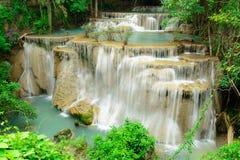 Huay Mae Kamin Waterfall. In Khuean Srinagarindra National Park, Kanchanaburi Province. Thailand Stock Image