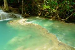 Huay Mae Kamin Waterfall. In Khuean Srinagarindra National Park, Kanchanaburi Province. Thailand Royalty Free Stock Photography