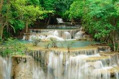 Huay Mae Kamin Waterfall. In Khuean Srinagarindra National Park, Kanchanaburi Province. Thailand Stock Photo