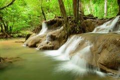 Huay Mae Kamin Waterfall. In Khuean Srinagarindra National Park, Kanchanaburi Province. Thailand Stock Photos