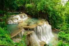Huay Mae Kamin Waterfall. In Khuean Srinagarindra National Park, Kanchanaburi Province Royalty Free Stock Image