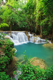 Huay Mae Kamin waterfall in Khuean Srinagarindra National Park, Stock Photo