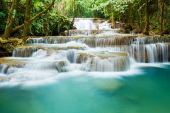 Huay Mae Kamin waterfall Royalty Free Stock Photo