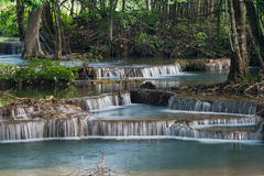 Huay Mae Kamin waterfall stock photography