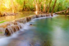Huay Mae Kamin Waterfall National Park, Arkivbild