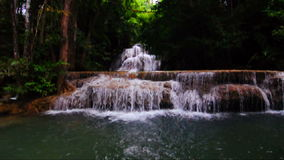 Huay Mae Kamin Waterfall National Park, Kanchanaburi stock video