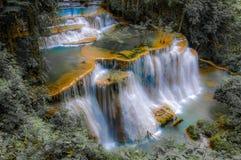 Huay Mae Kamin Waterfall National Park, Kanchanaburi Royalty Free Stock Photos