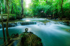 Huay Mae Kamin Waterfall National Park, Kanchanaburi Stock Photo