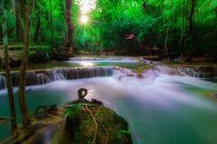 Huay Mae Kamin Waterfall National Park, Kanchanaburi Stock Image