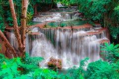 Huay Mae Kamin Waterfall National Park, Kanchanaburi Stock Photography