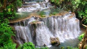 Huay Mae Kamin Waterfall National Park, Kanchanaburi stock video