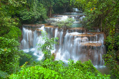 Huay Mae Kamin Waterfall Royalty Free Stock Images