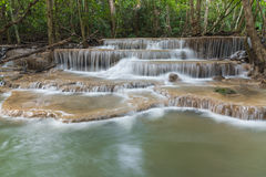 Huay Mae Kamin Waterfall Park Royalty Free Stock Image