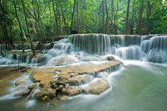 Huay mae kamin waterfall in Sri nakarin dam nation Stock Photo