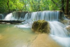 Huay mae kamin waterfall in Sri nakarin dam nation Royalty Free Stock Photo